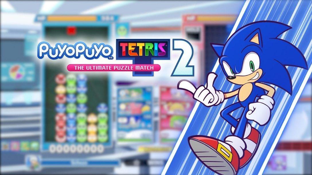 Oggi Sonic fa la sua apparizione nell'aggiornamento gratuito di Puyo Puyo Tetris 2