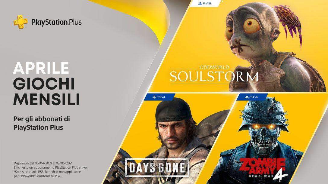 Giochi PlayStation Plus di aprile: Days Gone, Oddworld: Soulstorm e Zombie Army 4: Dead War