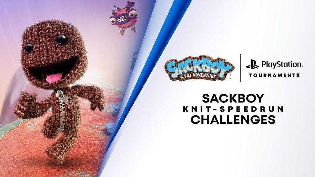 Metti alla prova la tua abilità e i tuoi riflessi nel nuovo Sackboy una grande avventura con la sfida di speedrun del cavaliere sferruzzato