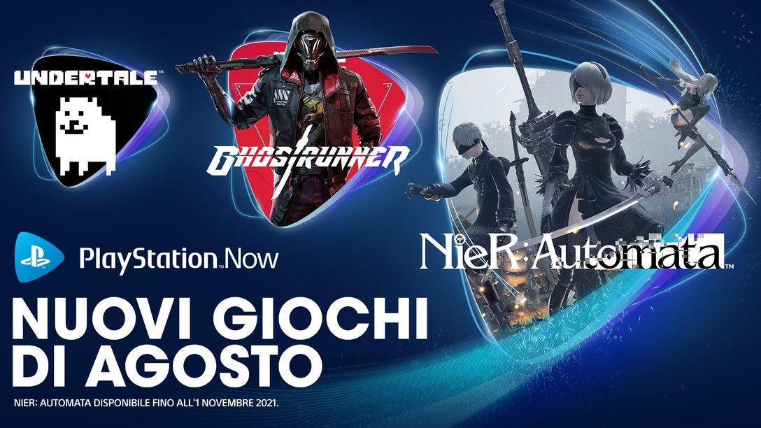 Giochi PlayStation Now di agosto: Nier: Automata, Ghostrunner, Undertale