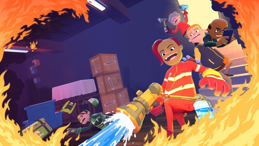 Diventate vigili del fuoco a noleggio nel frenetico multigiocatore Embr, in arrivo domani