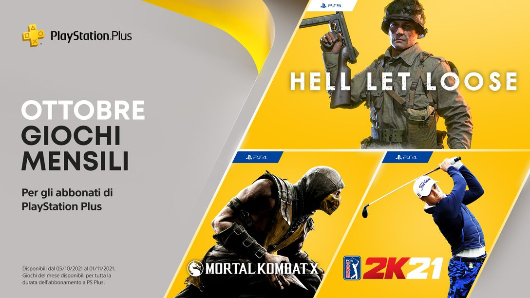 I giochi PlayStation Plus di ottobre: Hell Let Loose, PGA Tour 2K21, Mortal Kombat X