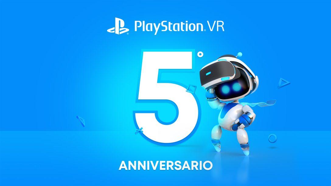 PlayStation VR compie cinque anni
